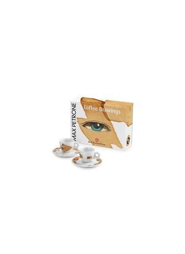 İlly Max Petrone Art Collectıon Espresso Fincan&Tabak X2 60Cc Renkli